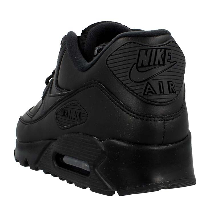 Nike Air Max 90 Leather Black 302519 001 Purchaze