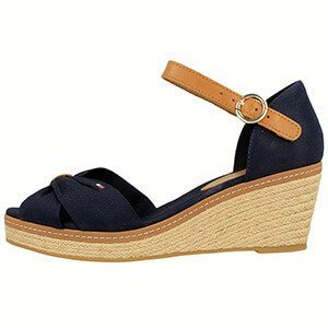 Tommy Hilfiger Iconic Elba Sandal - Sandały damskie na koturnie